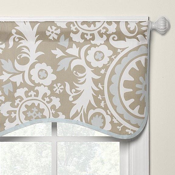 Taupe Suzani Window Valance | Liz And R