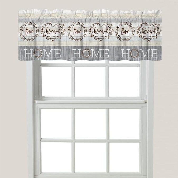 Laural Home Loving Home Window Valance in the Valances department .