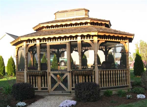 Amish-Built 12x14 Wood Gazebo Kits For Sale | Alan's Factory Outl