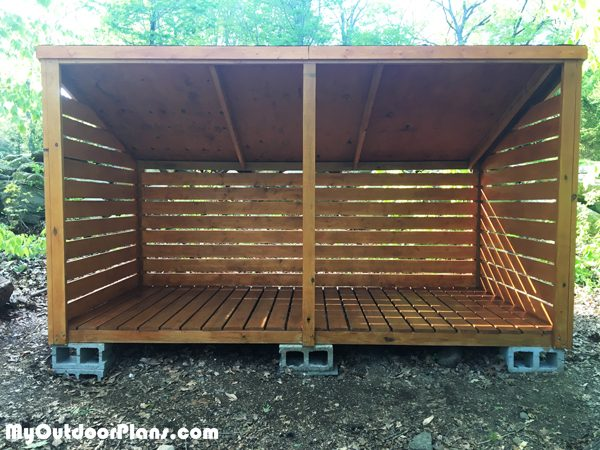 DIY 3 Cord Wood Shed | MyOutdoorPlans | Free Woodworking Plans and .