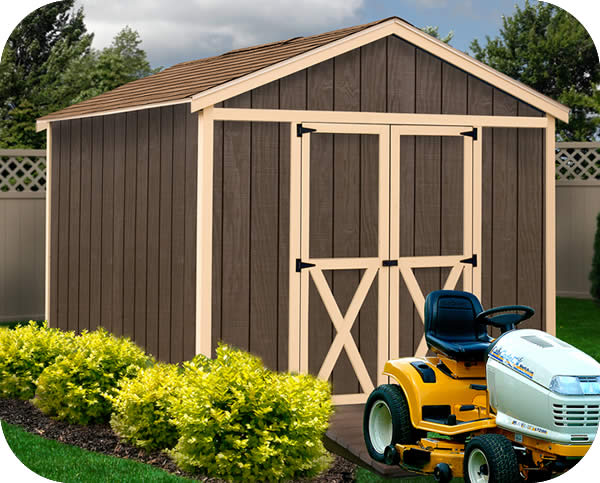 Danbury 8x12 Wood Storage Shed Kit (danbury_81