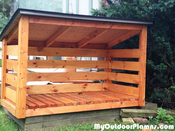 Backyard-wood-shed | Building a wood shed, Wood shed plans, Shed .