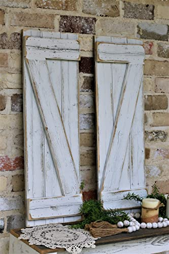Amazon.com: White Barn-wood Shutters: Handma