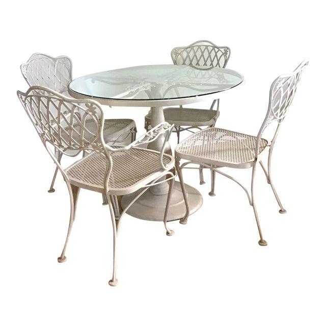 Mid-Century Woodard Wrought Iron Patio Furniture-Set of 5 | Chairi
