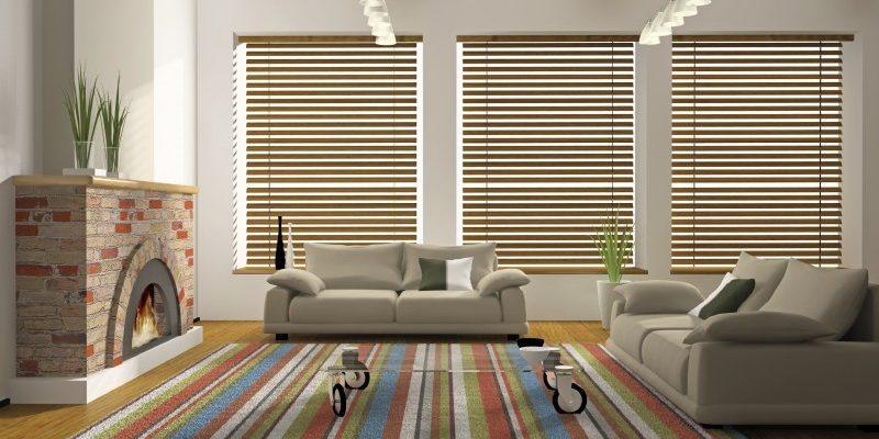 Wood Blinds | 3 Dark Wood Designs For Your Living Room | Shop .