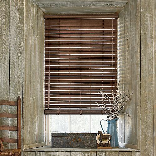 rustic wooden blinds | Wood blinds, Blinds, House blin
