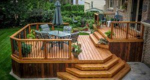 Wooden deck designs | Patio deck designs, Deck designs backyard .
