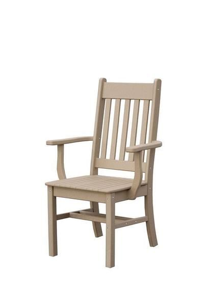 Conestoga Poly Arm Outdoor Dining Chair | Outdoor dining chairs .