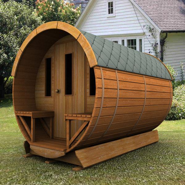 3d concept wooden garden sh