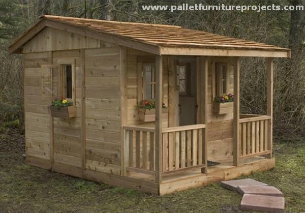 Pallet Garden Shed Huts | Pallet Furniture Projec
