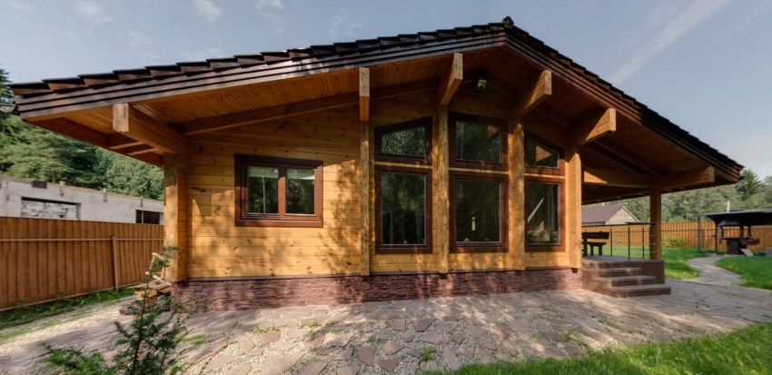 Wooden house pla