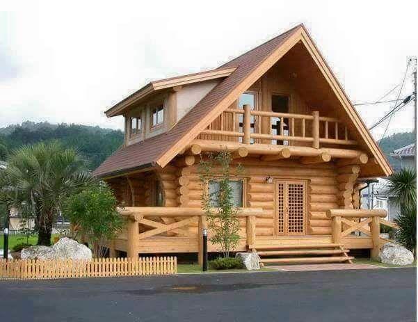 Wooden Dream House Ideas | Wooden house design, Wood house design .