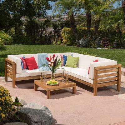 Wood - Free Shipping - Noble House - Outdoor Sectionals - Outdoor .