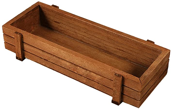 Amazon.com : Yosooo 2 Pcs Wooden Herb Flower Succulent Planter Box .