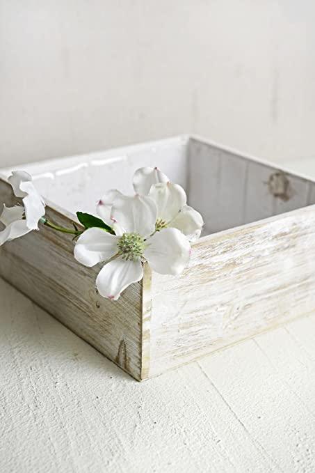 "Amazon.com : Richland Planter Box White Wood Square 9"" x 9 ."