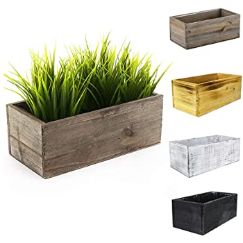 Amazon.com : CYS EXCEL Rustic Wood Planter Box with Removable .