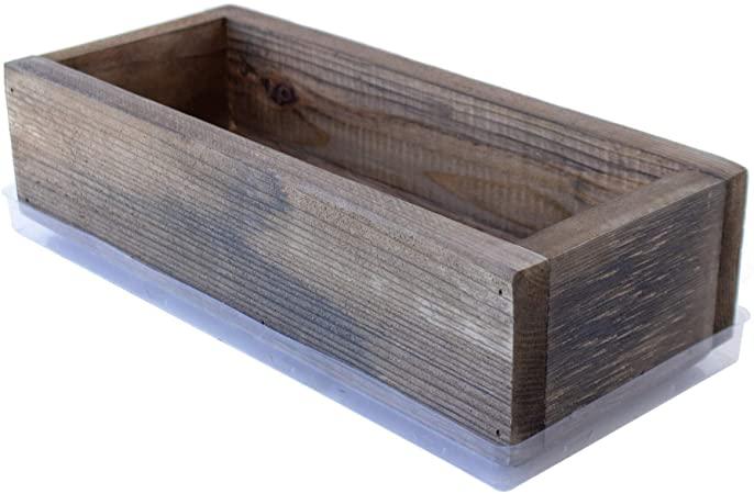 Amazon.com: Reclaimed Barnwood Style Planter Box - Rich Brown .