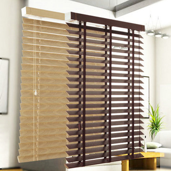 Made In China 50mm Wood Blind Paulownia Wooden Venetian Blind .