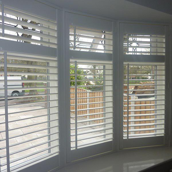 Wooden Venetian blinds bay window More | Blinds for windows living .