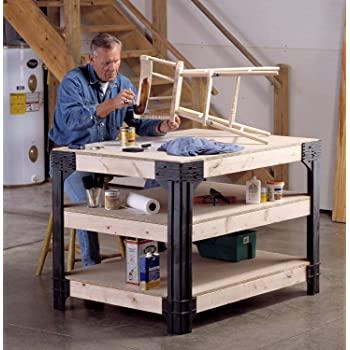 Amazon.com: Basics 2x4 Workbench Kit Customizable Wooden Workshop .