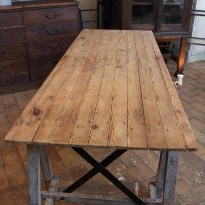 Vintage Wooden Workshop Table for sale at Pamo