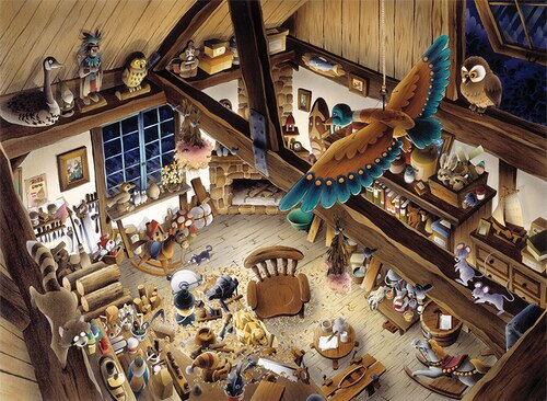 Wooden Workshop - 1000pc Jigsaw Puzzle by Anatolian - SeriousShops.c