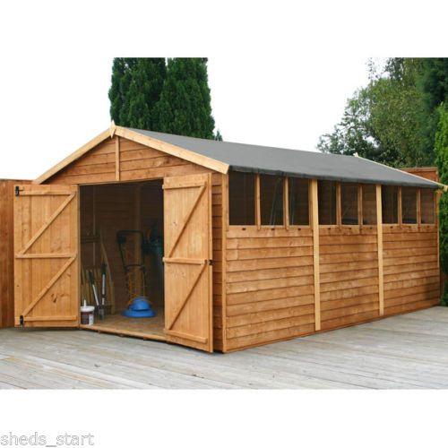 Wooden Workshop Shed 15ft x 10ft Large Sheds Timber Building .