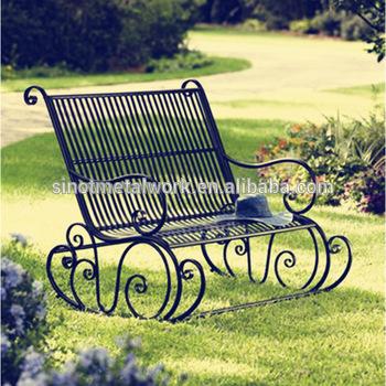 Outdoor Patio Furniture Decorative Wrought Iron Garden Rocking .