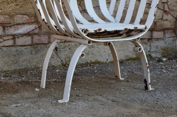 Antique Wrought Iron Garden Chairs, Set of 2 for sale at Pamo